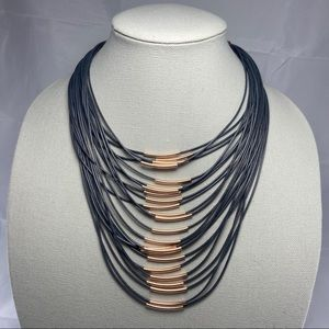 Charming Charlie Rose Gold Multi-strand Necklace